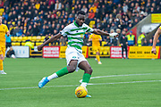 Odsonne Edouard (#22) of Celtic FC shoots for goal during the Ladbrokes Scottish Premiership match between Livingston FC and Celtic FC at The Tony Macaroni Arena, Livingston, Scotland on 6 October 2019.