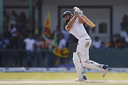 July 22, 2018 - Colombo, Sri Lanka - South African cricketer ..Theunis de Bruyn plays a shot during the 3rd day's play in the 2nd test cricket match between Sri Lanka and South Africa at SSC International Cricket ground, Colombo, Sri Lanka on Sunday  22 July 2018  (Credit Image: © Tharaka Basnayaka/NurPhoto via ZUMA Press)