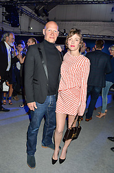 CAMILLA RUTHERFORD and DOMINIC BURNS at the Maserati Levante VIP Launch party held at the Royal Horticultural Halls, Vincent Square, London on 26th May 2016.