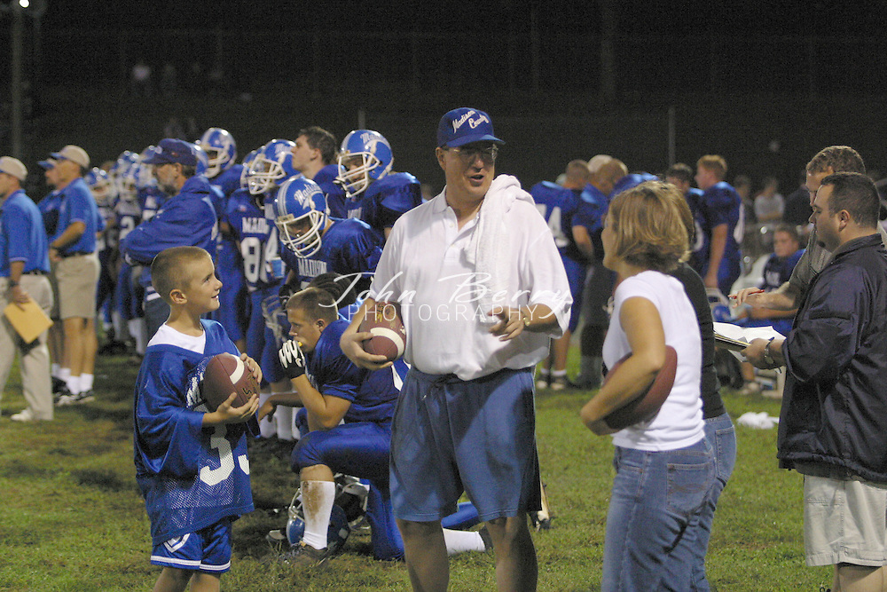 MCHS Varsity Football<br /> vs Central Woodstock<br /> August 29, 2002<br /> 300 wins for Eddie Dean
