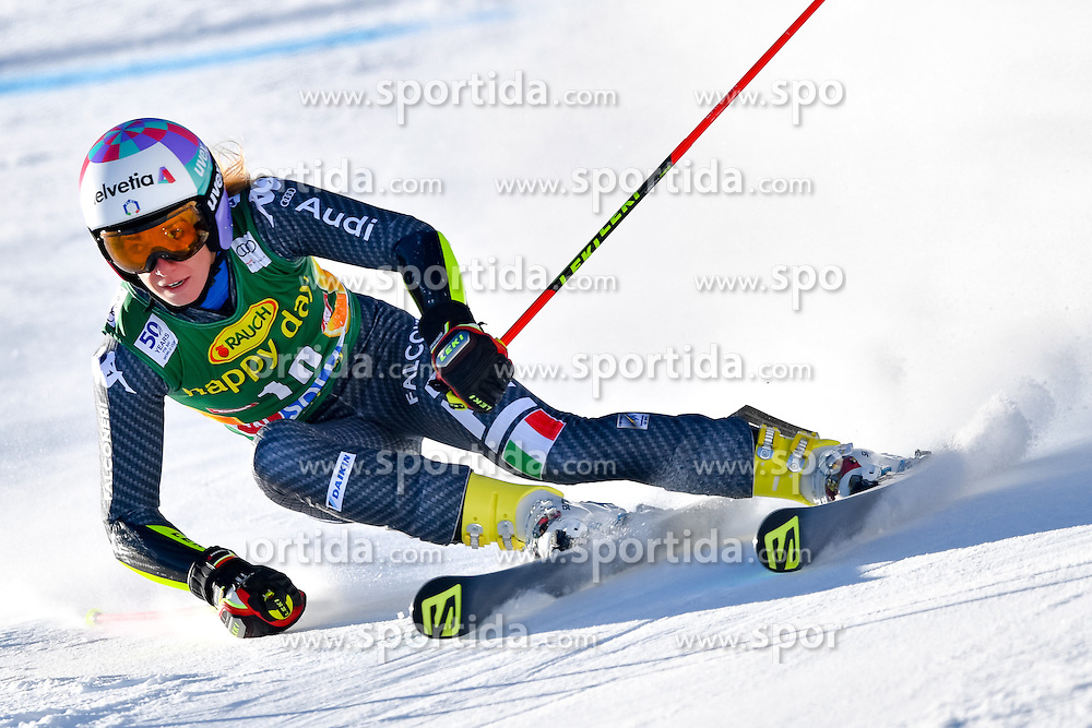 22.10.2016, Rettenbachferner, Soelden, AUT, FIS Weltcup Ski Alpin, Soelden, Riesenslalom, Damen, 1. Durchgang, im Bild Marta Bassino (ITA) // Marta Bassino of Italy in action during 1st run of ladies Giant Slalom of the FIS Ski Alpine Worldcup opening at the Rettenbachferner in Soelden, Austria on 2016/10/22. EXPA Pictures &copy; 2016, PhotoCredit: EXPA/ Nisse Schmid<br /> <br /> *****ATTENTION - OUT of SWE*****