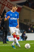 Borna Barisic of Rangers FC during the Betfred Scottish League Cup semi-final match between Rangers and Heart of Midlothian at Hampden Park, Glasgow, United Kingdom on 3 November 2019.