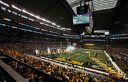 Feb 6, 2011; Arlington, TX, USA; A general view during player introductions before Super Bowl XLV between the Green Bay Packers and the Pittsburgh Steelers at Cowboys Stadium.  Green Bay defeated Pittsburgh 31-25.