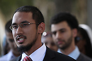 Aslam Akhtar, one of the ten Muslim students from the University of California, Irvine, guilty of disrupting a February 2010 speech at the university's campus by Michael Oren, Israeli ambassador to the United States. Orange County Superior Court Judge Peter Wilson sentenced each student to three years of probation, 56 hours of community service, and ordered each to pay $270 in fines.