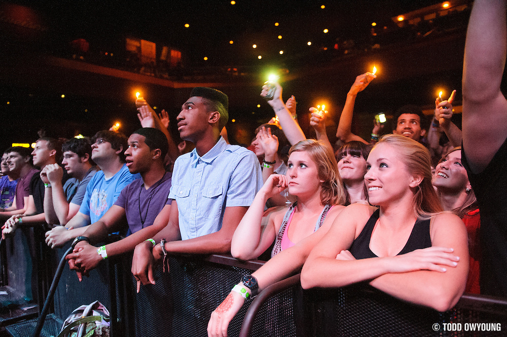 The crowd at the Pageant during Chance The Rapper's performance opening for Childish Gambino.