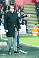 Football - 2017 / 2018 Premier League - Swansea City vs. Brighton & Hove Albion<br /> <br /> Swansea City manager Paul Clement look dumbfounded on the touchline, at The Liberty Stadium.<br /> <br /> COLORSPORT/WINSTON BYNORTH