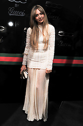 ZARA MARTIN at a party to launch the Gucci designed Fiat 500 customized by Gucci Creative Director Frida Giannini in collaboration with FIAT's Centro Stile, held at Fiat, 105 Wigmore Street, London on 27th June 2011.