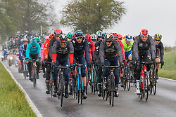 Peloton at Deigné during the 2019 Liège-Bastogne-Liège (1.UWT) with 256 km racing from Liège to Liège, Belgium. 28th April 2019. Picture: Pim Nijland | Peloton Photos<br /> <br /> All photos usage must carry mandatory copyright credit (Peloton Photos | Pim Nijland)