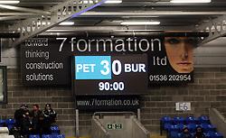A view of the final score on the scoreboard at full-time - Mandatory by-line: Joe Dent/JMP - 23/12/2017 - FOOTBALL - ABAX Stadium - Peterborough, England - Peterborough United v Bury - Sky Bet League One