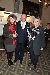 Left to right, LINDY, MARCHIONESS OF DUFFERIN & AVA, GRAHAM RUST and VISCOUNTESS BRIDGEMAN at a private view of The Secret Garden and A Little Princess an exhibition of original watercolours by Graham Rust held at St.Wilfrid's Hall, The Brompton Oratory, London on 2nd October 2012.
