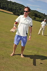 DAN PHILIPSON at a cricket match to in aid of CARE - Corfu Animal Rescue Establishment held at Hawkley Cricket Club, Hawkley, Hampshire on 8th September 2012.