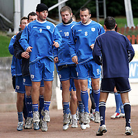 St Johnstone Training...07.11.06<br />Peter MacDonald and Steven Milne are kept on their toes by Owen Coyle during training this morning before facing Rangers in tomorrow nights CIS Cup quarter final at Ibrox.<br />see story by Gordon Bannerman Tel: 01738 553978 or 07729 865788<br />Picture by Graeme Hart.<br />Copyright Perthshire Picture Agency<br />Tel: 01738 623350  Mobile: 07990 594431