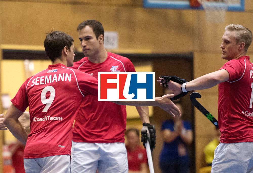 BERLIN - Indoor Hockey World Cup<br /> Czech Republic - Trinidad &amp; Tobago<br /> foto: Czech scored a goal<br /> WORLDSPORTPICS COPYRIGHT FRANK UIJLENBROEK