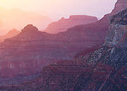 Early morning light on Cedar Ridge and O'Neill Butte. Grand Canyon National Park in Arizona.