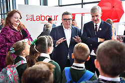 © Licensed to London News Pictures. 27/09/2016. Liverpool, UK. TOM WATSON talking to a class of school children at Day three of the Labour Party Annual Conference, held at the ACC in Liverpool, merseyside, UK. Photo credit: Ben Cawthra/LNP