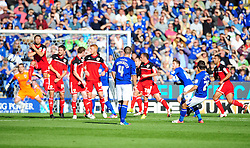 \24\ sees his free kick deflected wide - Photo mandatory by-line: Joe Meredith/JMP  - Tel: Mobile:07966 386802 06/10/2012 - Leicester City v Bristol City - SPORT - FOOTBALL - Championship -  Leicester  - King Power Stadium