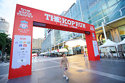 BANGKOK, THAILAND - Sunday, July 12, 2015: Branding for the 'Kop Run' at Central World ahead of the team's arrival in Thailand for the start of the club's preseason tour. (Pic by David Rawcliffe/Propaganda)