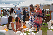 NATALIE EVERARD; AKIKO TAKASHIMA; ALLY KING; AMY WILLIAMS; , The Veuve Clicquot Gold Cup Final.<br /> Cowdray Park Polo Club, Midhurst, , West Sussex. 15 July 2012.