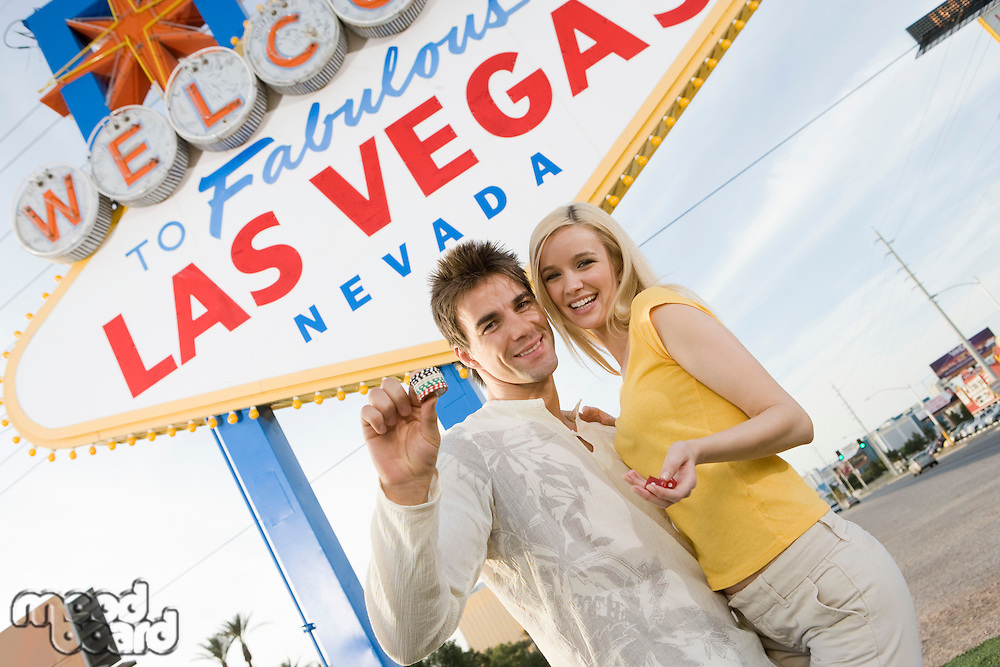 Couple having fun in Las Vegas, Nevada, USA