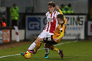 Rob Dickie and George Maris during the EFL Sky Bet League 2 match between Cambridge United and Cheltenham Town at the R Costings Abbey Stadium, Cambridge, England on 26 November 2016. Photo by Antony Thompson.