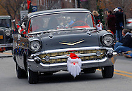 12/1/12 11:43:59 AM - Souderton, PA: A classic Chevy rides drives on Main Street during the Souderton/Telford Holiday Parade December 1, 2012 in Souderton, Pennsylvania -- (Photo by William Thomas Cain/Cain Images)