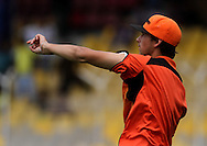 Perth Scorchers player Ashton Agar during the warm up session of match 4 of the Karbonn Smart Champions League T20 (CLT20) 2013  between The Highveld Lions and the Perth Scorchers held at the Sardar Patel Stadium, Ahmedabad on the 23rd September 2013<br /> <br /> Photo by Vipin Pawar-CLT20-SPORTZPICS  <br /> <br /> Use of this image is subject to the terms and conditions as outlined by the CLT20. These terms can be found by following this link:<br /> <br /> http://sportzpics.photoshelter.com/image/I0000NmDchxxGVv4