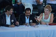 SAO PAULO, SP, 10.02.2014 - ANIVERSARIO PT / 34 ANOS - durante cerimonia de comemoração dos 34 anos do Partido dos Trabalhadores no Grande Auditorio do Centro de Convencoes do Anhembi na regiao norte de Sao Paulo, nesta segunda-feira, 10. (Foto: Vanessa Carvalho / Brazil Photo Press).