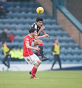Dundee's Julen Etxabeguren and St Mirren's Stevie Mallan - Dundee v St Mirren in the William Hill Scottish Cup at Dens Park, Dundee. Photo: David Young<br /> <br />  - © David Young - www.davidyoungphoto.co.uk - email: davidyoungphoto@gmail.com