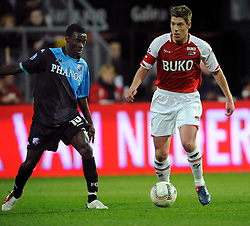 03-04-2010 VOETBAL: AZ - FC UTRECHT: ALKMAAR<br /> FC Utrecht verliest met 2-0 van AZ / Nana Asare en Stijn Schaars<br /> ©2010-WWW.FOTOHOOGENDOORN.NL