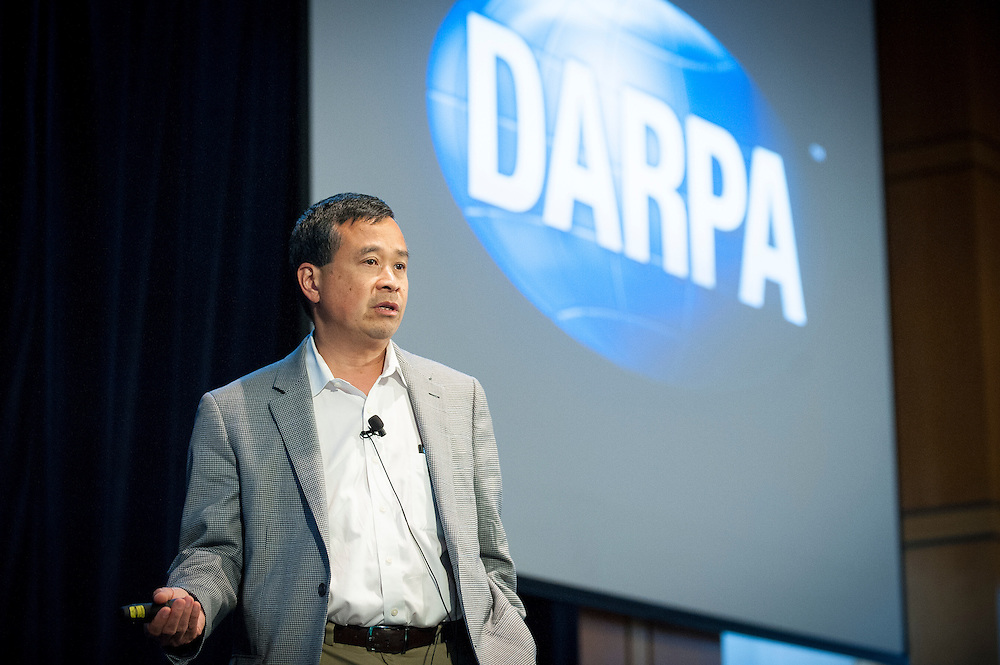 """Dr. Geoff Ling, Director of DARPA's Biological Technologies Office (BTO), welcomes attendees to the """"Biology Is Technology"""" symposium in New York City on June 23, 2015, and explains how careers with DARPA offer the possibility to pursue breakthroughs that drive technological revolutions and have profound impacts on people's lives.The two-day event was held by BTO to bring together leading-edge technologists, start-ups, industry, and academic researchers to look at how advances in engineering and information sciences can be used to drive biology for technological advantage."""