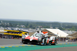 June 16, 2018 - Le Mans, Sarthe, France - Toyota Gazoo Racing Toyota TS050 Hybrid Driver SEBASTIEN BUEMI (CHE) in action during the 86th edition of the 24 hours of Le Mans 2nd round of the FIA World Endurance Championship at the Sarthe circuit at Le Mans - France (Credit Image: © Pierre Stevenin via ZUMA Wire)