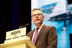 Scottish Cabinet Secretary for Finance, Economy and Fair Work Derek Mackay addressing the SNP's 2018 conference at the SEC, Glasgow. Pic copyright Terry Murden @edinburghelitemedia