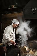 Yasha Yukawa, swordsmith in Hofu, Yamaguchi Prefekture, Japan <br /> Photographer: Christina Sjogren<br /> Copyright 2018, All Rights Reserved<br /> <br /> Yasha Yukawa, sv&auml;rdsmed i Hofu, Yamaguchi Prefektur, Japan <br /> Fotograf: Christina Sj&ouml;gren<br /> Copyright 2018, All Rights Reserved