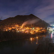 The town, dam and locks of London. Kanawha County, West Virginia.