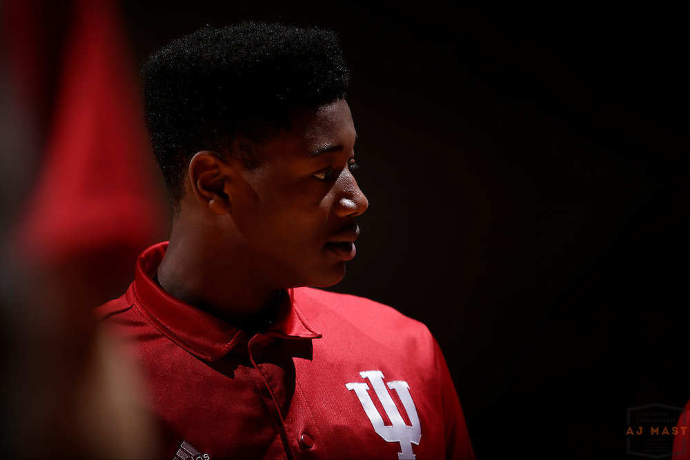 Indiana forward Emmitt Holt (25) as Grand Canyon played Indiana in an NCAA college basketball game in Bloomington, Ind., Saturday, Dec. 13, 2014. (AJ Mast/Photo)