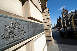 Exterior of High Court of Justiciary on Royal Mile ( High Street) in Edinburgh Old Town, Scotland, UK