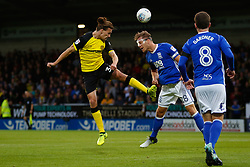Jackson Irvine of Burton Albion heads for goal - Mandatory by-line: Ryan Crockett/JMP - 18/08/2017 - FOOTBALL - Pirelli Stadium - Burton upon Trent, England - Burton Albion v Birmingham City - Sky Bet Championship