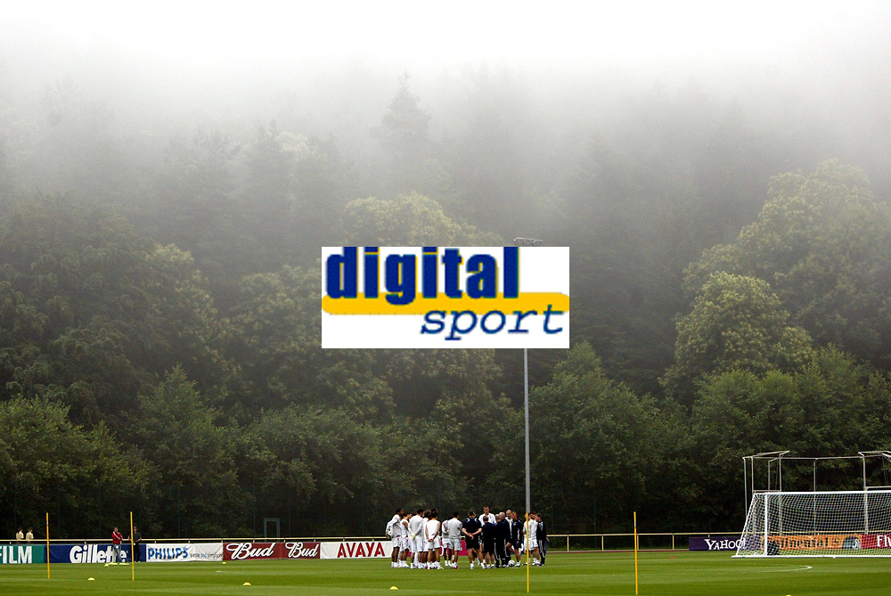Photo: Chris Ratcliffe.<br />England Training Session. FIFA World Cup 2006. 28/06/2006.<br />England team training in the mist of Buhlertal.