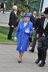 HM THE QUEEN at the 2012 Investec sponsored Derby at Epsom Racecourse, Epsom, Surrey on 2nd June 2012.