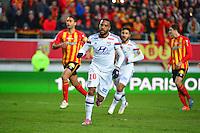 Joie Alexandre LACAZETTE - 17.01.2015 - Lens / Lyon - 21eme journee de Ligue 1 <br />Photo : Dave Winter / Icon Sport