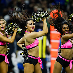 Oct 15, 2017; New Orleans, LA, USA; New Orleans Saints Saintsations perform during the first half of a game against the Detroit Lions at the Mercedes-Benz Superdome. Mandatory Credit: Derick E. Hingle-USA TODAY Sports