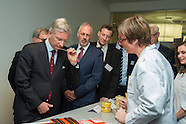 "King Philippe visits the ""Puratos"" Research Center"