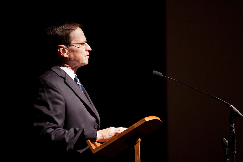 Dr. David Descutner speaks at the 50th Anniversary of the March on Washington at Templeton -Blackburn Alumni Memorial Auditorium on August 28, 2013.