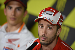 June 8, 2017 - Montmelo, Barcelona, Spain - Press conference before a Gran Premi Monster Energy de Catalunya, Circuit of Montmelo.Thursday, June 08, 2017..In the picture: #4 Andrea Dovizioso (Italian) Ducati Team Ducati  (Credit Image: © Jose Breton/NurPhoto via ZUMA Press)