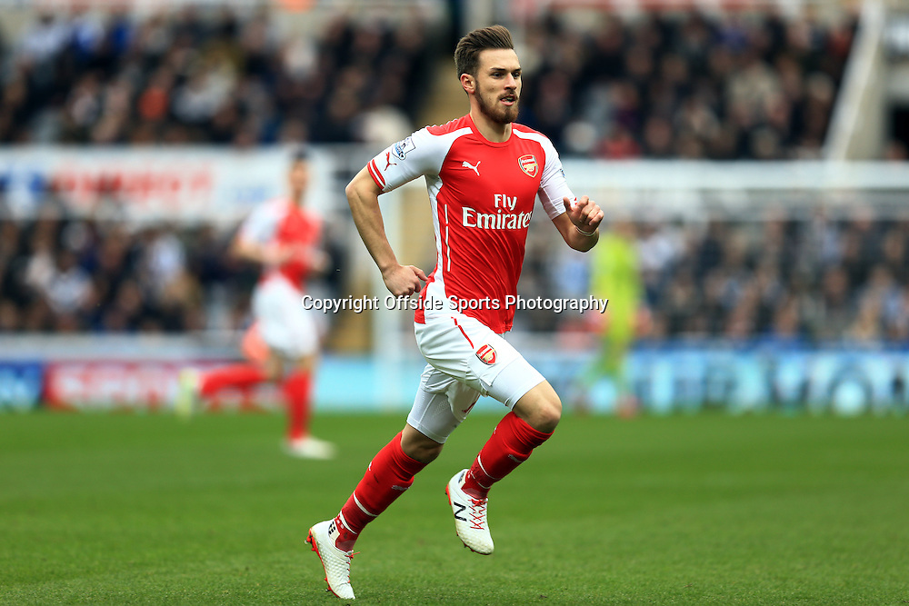 21 March 2015 - Barclays Premier League - Newcastle United v Arsenal - Aaron Ramsey of Arsenal - Photo: Marc Atkins / Offside.