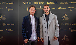 Stefan Savić of Olimpija and Asmir Suljić of Olimpija during SPINS XI Nogometna Gala 2019 event when presented best football players of Prva liga Telekom Slovenije in season 2018/19, on May 19, 2019 in Slovene National Theatre Opera and Ballet Ljubljana, Slovenia. ,Photo by Urban Meglic / Sportida