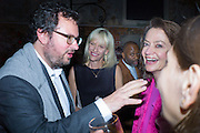 IVAN WIRTH; ELIZABETH MURDOCH; THEASTER GATES; CORINNE FLICK;,  Hauser and Wirth cocktail reception. Palazzo Balbi-Valier, Dorsoduro 866, Venice, Venice Biennale, Venice. 5 May 2015