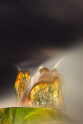 """Fly Geyser at Night 4"" - Photograph of the famous man made Fly Geyser in Nevada, shot at night."