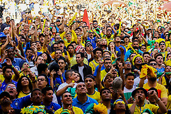 July 2, 2018 - SãO Paulo, Brazil - SÃO PAULO, SP - 02.07.2018: ARENA EM SP TRANSMITE JOGO DO BRASIL - Fans will attend the Arena set up in the Anhangabaú Valley, in the central region of São Paulo, where the game will be broadcast in the 2018 World Cup, between Brazil and Mexico, on Monday (02) (Credit Image: © Aloisio Mauricio/Fotoarena via ZUMA Press)