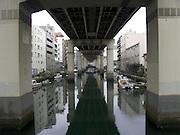canal under highway Ryogoku Tokyo